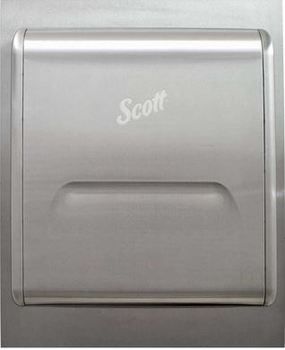 Picture of item KCC-43823 a Scott® Pro Stainless Steel Recessed Dispenser Housing With Trim Panel. 17.62 X 22 X 5.0 in.