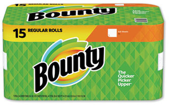 Picture of item 875-601 a Bounty 2-Ply Paper Towels. White. 15 Rolls.
