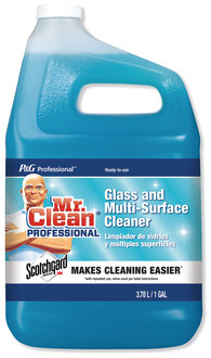 Picture of item PGC-81633 a Mr. Clean Pro Glass and Multi-Surface Cleaner with Scotchgard Protector, Apple, 1 Gal, Ready-To-Use, 2/Case