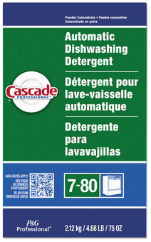 Picture of item PGC-59535 a Cascade Automatic Dishwasher Powder, Fresh Scent, 75 oz Box, 7 Boxes/Case.