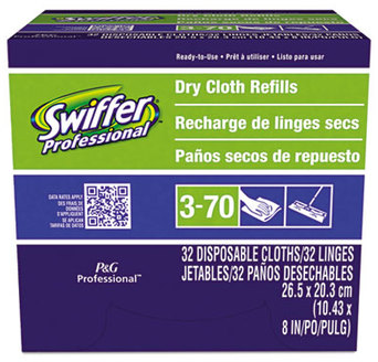 "Picture of item 601-707 a Swiffer® Sweeper Dry Refill Cloths, White, 10 5/8"" x 8"", 32/Box, 6 Boxes/Carton"