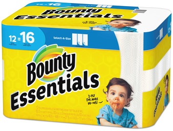 Picture of item PGC-74682 a Bounty Essentials Select-A-Size Paper Towels, 2-Ply, 83 Sheets/Roll, 12 Rolls/Case.