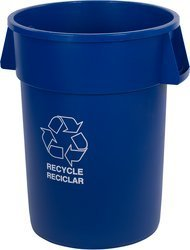 Picture of item 963-700 a Bronco™ Round Recycling Container. 44 gal. Blue.