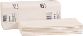 Picture of item 869-513 a Tork Premium C-Fold Hand Towel. White. 10.1 X 12.8 in. 2000 count.