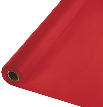 Picture of item 964-400 a Creative Converting Rectangular Roll Plastic Tablecover. 40 in. X 100 ft. Red.
