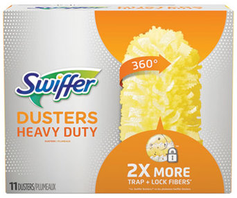 Picture of item PGC-99035 a Swiffer 360 Heavy Duty Dusters Refill. 2 x 6 in. Yellow. 33 count.