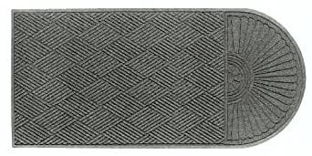 Picture of item 963-773 a Waterhog Classic Entrance-Scraper/Wiper-Indoor/Outdoor Mat with One Oval End and Smooth Back. 6 X 11.6 ft. Medium Grey color.