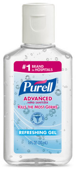 Picture of item GOJ-01333 a PURELL® Advanced Hand Sanitizer Gel.  1 fl oz Flip Cap Bottle.  LIMIT 5 PER CUSTOMER