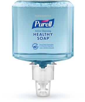 Picture of item GOJ-648602 a PURELL® Foodservice CRT HEALTHY SOAP™ Active Cleansing Foam for PURELL® ES6 Touch-Free Soap Dispensers. 1200 mL.