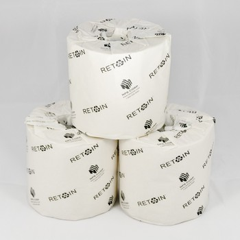 "Picture of item 887-911 a Retain™ Universal 1-Ply Conventional Bath Tissue.  Individually Wrapped. 4"" x 3.25."" 1000 Sheets/Roll, 96 Rolls/Case."