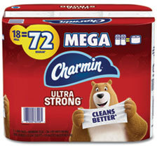 Picture of item PGC-52084 a Charmin® Ultra Strong 2-Ply Bathroom Tissue. White. 18 rolls.