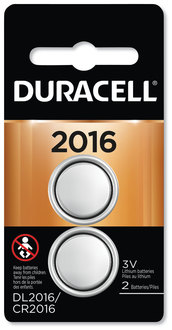 Picture of item DUR-DL2016B2 a Duracell Lithium Coin Battery, 2016, 2/Pack