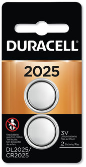 Picture of item DUR-DL2025B2 a Duracell Lithium Coin Battery, 2025, 2/Pack