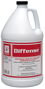 Picture of item SPT-102404 a Diffense® Broad Spectrum Cleaner Disinfectant. 1 Gallon Bottle, Clean Floral scent. 4/Case.
