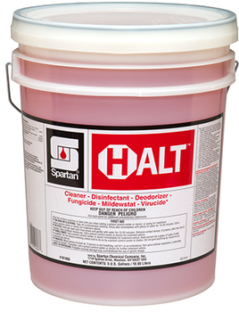 Picture of item SPT-101805 a Halt™ Hospital Grade Disinfectant. 5 gal. Orange. Fresh scent.