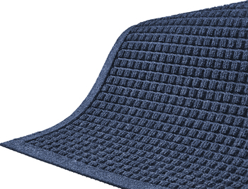 Picture of item 963-800 a Waterhog™ Fashion Border Entrance-Scraper/Wiper-Indoor/Outdoor Mat. 3 X 8 ft. Navy.
