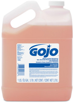 Picture of item 670-786 a GOJO® Body & Hair Shampoo in Pour Bottle. 1 gal. 4 Bottles/Case.
