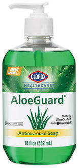 Clorox AloeGuard® Antimicrobial Soap in Pump Bottles. 18 oz. Aloe Scent. 12/Case.