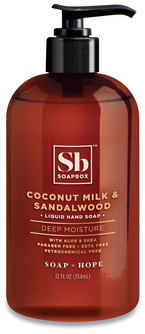 Picture of item SBX-00676 a Hand Soap, Coconut Milk and Sandalwood, 12 oz Pump Bottle, 12/Case
