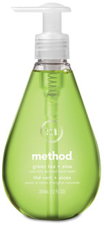 Method® Gel Hand Wash,  Green Tea & Aloe, 12 oz Pump Bottle, 6/Case.