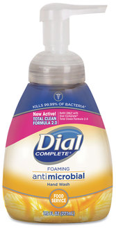 Picture of item DIA-06001 a Dial® Professional Antimicrobial Foaming Hand Soap,  Light Citrus, 7.5 oz Pump Bottle, 8/Case.