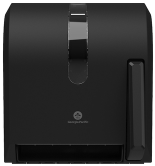 Picture of item 892-312 a GP PRO™ Universal Push-Paddle Paper Towel Dispenser. 14.750 X 13.500 X 10.875 in. Opaque Black.