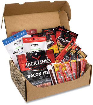 Picture of item GRR-700S0020 a Snack Box Pros Big Beef Jerky Box, 29 Assorted Snacks, Free Delivery in 1-4 Business Days