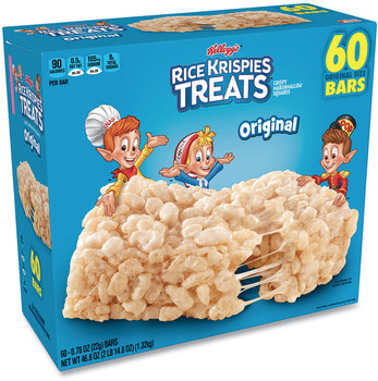 Picture of item GRR-22000515 a Kellogg's® Rice Krispies® Treats, Original Marshmallow, 0.78 oz Bar, 60/Carton, Free Delivery in 1-4 Business Days