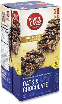 Fiber One® Chewy Bars, Oats and Chocolate, 1.4 oz, 30/Box, Free Delivery in 1-4 Business Days