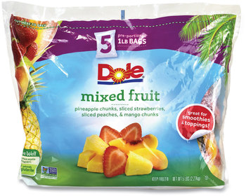 Dole® Frozen Mixed Fruit, 1 lb Bag, 5 Bags/Pack, Free Delivery in 1-4 Business Days
