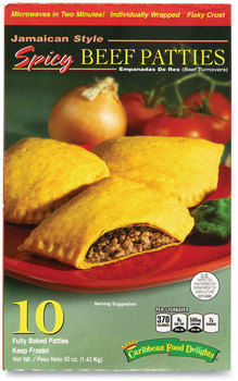 Caribbean Food Delights® Jamacian Style Spicy Beef Empanadas, 50 oz Box, 10/Box, Free Delivery in 1-4 Business Days