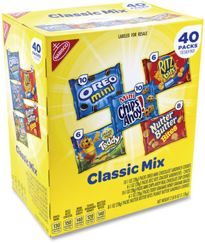 Picture of item GRR-22000086 a Nabisco® Cookie and Cracker Classic Mix, Assorted Flavors, 1 oz Pack, 40 Packs/Box, Free Delivery in 1-4 Business Days