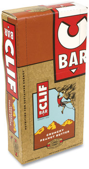 Picture of item GRR-20900633 a CLIF® Bar Energy Bar, Crunchy Peanut Butter, 2.4 oz, 12/Box, Free Delivery in 1-4 Business Days