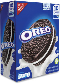 Picture of item GRR-22000417 a Nabisco® Oreo Chocolate Sandwich Cookies, 5.25 oz Pouch, 10 Pouches/Box, Free Delivery in 1-4 Business Days