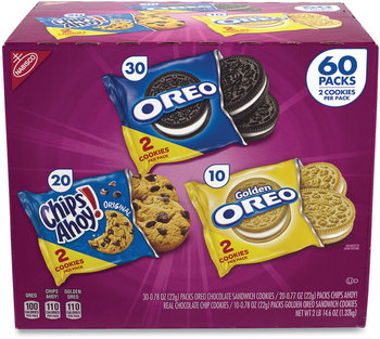 Picture of item GRR-22000729 a Nabisco® Cookie Variety Pack, Assorted Flavors, 0.77 oz Pack, 60 Packs/Box, Free Delivery in 1-4 Business Days
