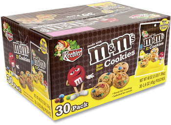 Picture of item GRR-20900466 a Keebler® Mini Cookie Snack Packs, Chocolate Chip/MandMs, 1.6 oz Pouch, 30 Pouches/Carton, Free Delivery in 1-4 Business Days