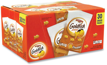 Picture of item GRR-22000493 a Pepperidge Farm® Goldfish® Crackers, Cheddar, 1.5 oz Bag, 30 Bags/Box, Free Delivery in 1-4 Business Days