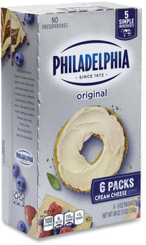 Picture of item GRR-90200034 a Kraft® Philadelphia Cream Cheese, Original, 8 oz Brick, 6/Box, Free Delivery in 1-4 Business Days