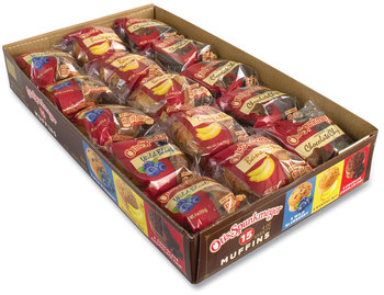 Otis Spunkmeyer® Muffins Variety Pack, Assorted Flavors, 4 oz Pack, 15 Packs/Box, Free Delivery in 1-4 Business Days