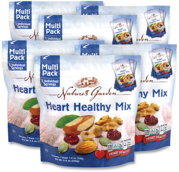 Picture of item GRR-29400006 a Nature's Garden Healthy Heart Mix, 1.2 oz Pouch, 7 Pouches/Pack, 6 Packs/Box, Free Delivery in 1-4 Business Days