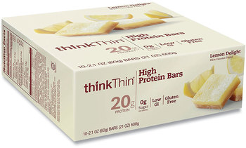 Picture of item GRR-20902479 a thinkThin® High Protein Bars, Lemon Delight, 2.1 oz Bar, 10 Bars/Carton, Free Delivery in 1-4 Business Days