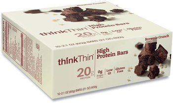 Picture of item GRR-20902478 a thinkThin® High Protein Bars, Brownie Crunch, 2.1 oz Bar, 10 Bars/Carton, Free Delivery in 1-4 Business Days