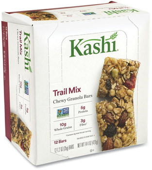Kashi® Chewy Granola Bars, Trail Mix, 1.2 oz Bar, 12 Bars/Box, 2 Boxes/Pack, Free Delivery in 1-4 Business Days
