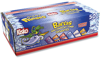 Kisko® Giant Freezies, 5.5 oz Sleeve, 6 Assorted Flavors, 50 Sleeves/Box, Free Delivery in 1-4 Business Days