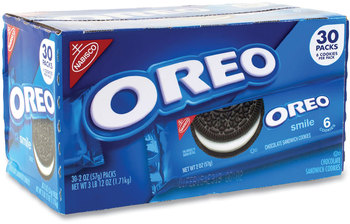 Picture of item GRR-22000421 a Nabisco® Oreo® Cookies Single Serve Packs, Chocolate, 2 oz Pack, 30/Box, Free Delivery in 1-4 Business Days