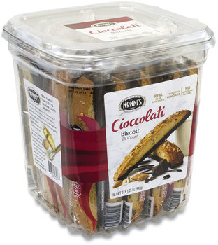 Picture of item GRR-20900322 a Nonni's® Biscotti, Dark Chocolate Almond, 0.85 oz Individually Wrapped, 25/Pack, Free Delivery in 1-4 Business Days