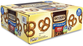 Picture of item GRR-22000487 a Snyder's® Mini Pretzels, Mini, 0.92 oz Bags, 60 Bags/Carton, Free Delivery in 1-4 Business Days