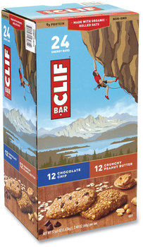 Picture of item GRR-22000438 a CLIF® Energy Bar, Chocolate Chip/Crunchy Peanut Butter, 2.4 oz, 24/Box, Free Delivery in 1-4 Business Days