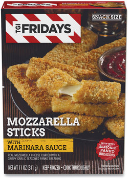 TGI Friday's™ Mozzarella Sticks with Marinara Sauce, 11 oz Box, 2 Boxes/Carton, Free Delivery in 1-4 Business Days