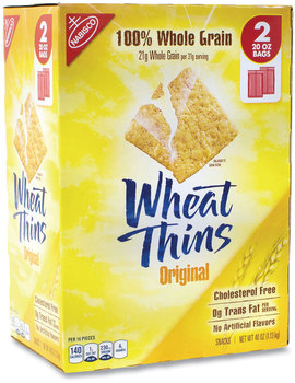 Picture of item GRR-22000087 a Nabisco® Wheat Thins® Crackers, Original, 20 oz Bag, 2 Bags/Box, Free Delivery in 1-4 Business Days